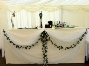 Outside bar for weddings