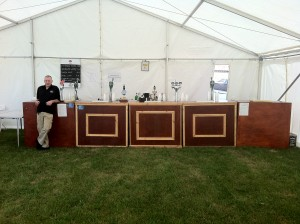 Outside beer tent