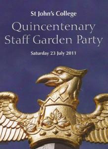St Johns College Staff Garden Party
